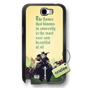 Disney Cartoon Mulan Soft Rubber(TPU) Phone Case & Cover for Samsung Galaxy Note 2 - Black