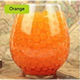 LOVOUS 3000 Pcs Water Beads, Crystal Soil Water Bead Gel, Wedding Decoration Vase Filler - Furniture Decorative Vase Filler, All Occasion Table Centerpiece Decorations (Orange)