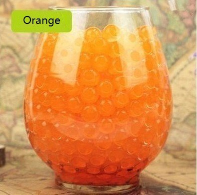Orange Flower Beads - LOVOUS 3000 Pcs Water Beads, Crystal Soil Water Bead Gel, Wedding Decoration Vase Filler - Furniture Decorative Vase Filler, All Occasion Table Centerpiece Decorations (Orange)