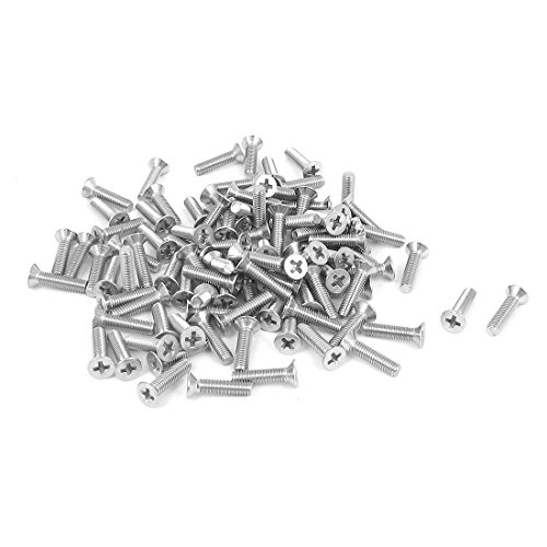 - Uxcell a15101300ux0193 M3 x 12mm Phillips Flat Head Countersunk Bolts Machine Screws (Pack of 100)
