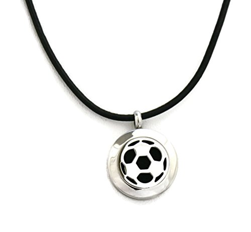 Soccer Essential Diffuser Necklace Black Leather