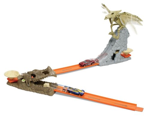 Hot Wheels: Hot Wheels Trick Tracks Dino Wing Drop - The ...