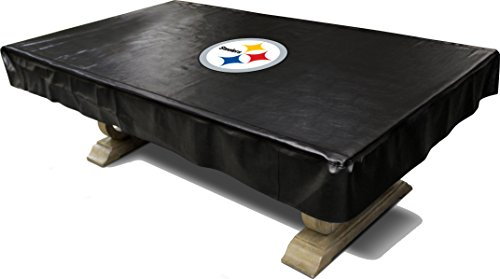 Imperial Officially Licensed NFL Merchandise: Billiard/Pool Table Naugahyde Cover, 8-Foot Table, Pittsburgh Steelers