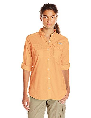 Long Fishing Cotton Shirt Sleeve (Columbia Women's Bonehead II Long Sleeve Shirt, Light Juice, Large)