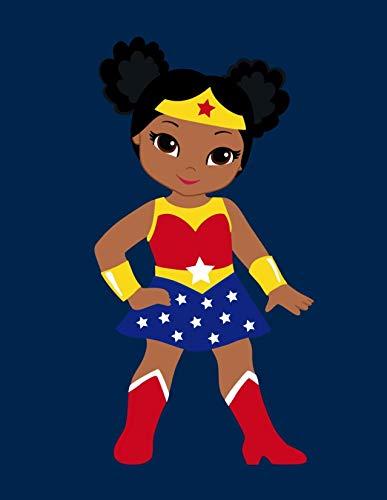 41IRs5yjpdL African American Wonder Woman Superhero Nursery Decor Set of 4 Prints - Little Girls Are Just Superheroes In Disguise
