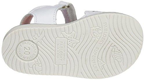 Pablosky Mädchen 011500 Sandalen Weiß