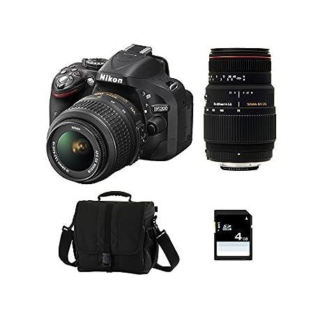Nikon D5200 + 18-55 VR II + Sigma 70-300 DG APO Macro + SD 4GB ...