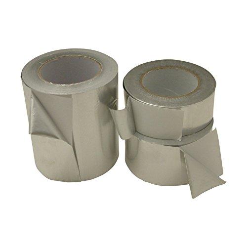 """J.V. Converting AF12/SI450 JVCC AF12 Economy Aluminum Foil Tape: 4"""" x 50 yd, Silver"""