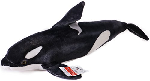Octavius the Orca Blackfish   Over 2 1/2 Foot Long Big Killer Whale Stuffed Animal Plush   By Tiger Tale (Big Whale)