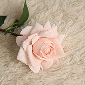 LtrottedJ Rose Flower Artificial Flannel Rose Flowers for Wedding Party Home Design Bouquet Decor 116