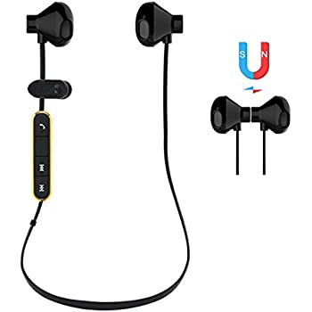 PROMIC Magnetic Bluetooth Headphone - Connect to 2 devices Simultaneously - Wireless 4.1 Sport Earbuds,