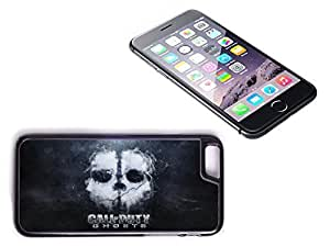 iPhone 6 Black Plastic Hard Case with High Gloss Printed Insert Call Of Duty by supermalls