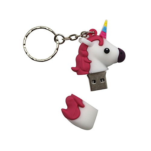 Sundiao Lovely Cartoon Unicorn PVC USB Flash Drive 2.0 Cute Gift USB Flash Memory Disk USB Flash Stick Pen Drive (32GB, White) by SunDiao (Image #2)