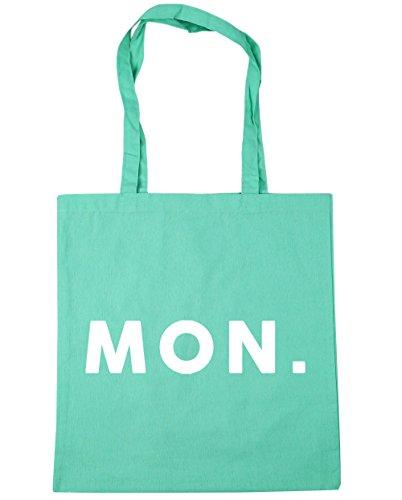 HippoWarehouse Mon Tote Compras Bolsa de playa 42cm x38cm, 10litros verde menta