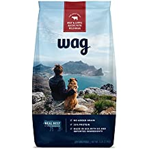 Amazon Brand - Wag Dry Dog Food Trial-Size Bag, No Added Grain, Beef & Lentil Recipe with Wild Boar