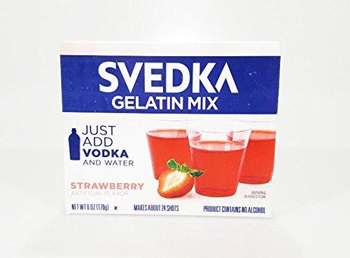 Svedka Gelatin Mix 4 - 6oz Boxes (Strawberry)
