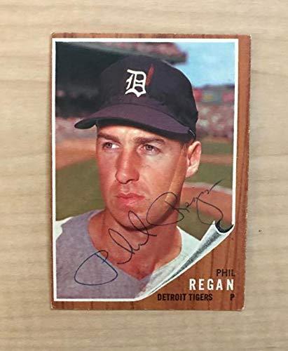 Phil Regan Detroit Tigers Signed Vintage 1962 Topps Card 366 W Coa