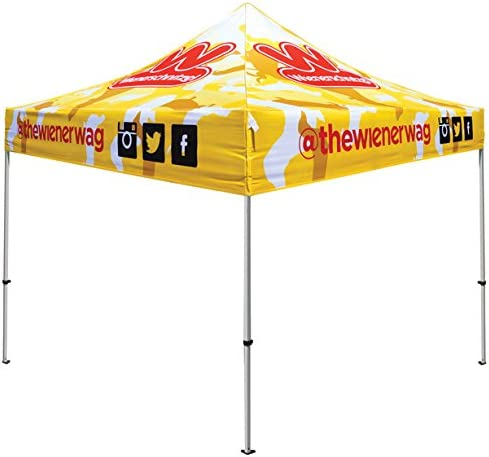 Elite Canopy 10'x10' Commercial-Grade Aluminum Pop-Up Canopy Trade Show Outdoor Tent w/Roller Carry Bag