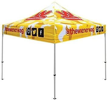 Elite Canopy 10 x10 Custom Printed Commercial-Grade Pop-Up Canopy Trade Show Outdoor Tent w Roller Carry Bag