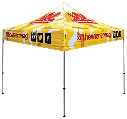 Elite Canopy 10'x10' Custom Printed Commercial-Grade Pop-Up Canopy Trade  Show Outdoor Tent w/Roller Carry Bag