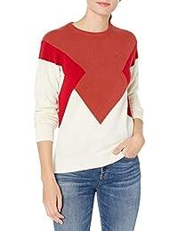 Womens Long Sleeve Colorblock Jersey Sweater