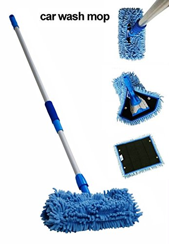 Car Truck Boat Microfiber Mop Wash Stik Kit Telescopic Pole with Cover (Z Best Leather Cleaner)