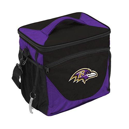 Logo Brands NFL Baltimore Ravens 24 Can Cooler, One Size, Black by Logo Brands