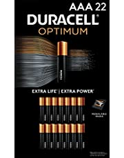 Duracell Optimum AAA Batteries | 22 Count Pack | Lasting Power Double A Battery | Alkaline AA Battery Ideal for Household and Office Devices | Resealable Package for Storage