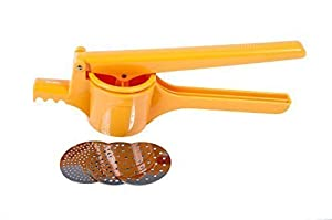 metaltex Kartoffelpresse Spätzlepresse Nudelpresse (orange)