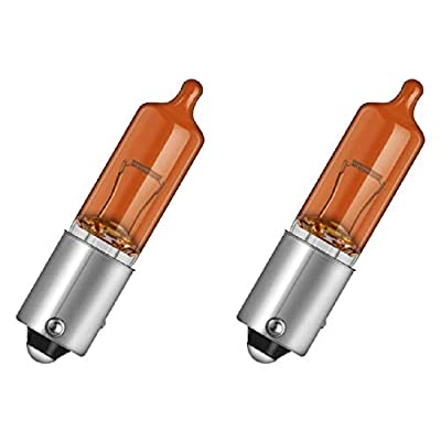 2-Pack HY21W Amber Halogen Bulbs, 12 V, 21 W, BAW9s Base, T-2.75 Shape, Vosla 38193, Made in Germany: Home Improvement