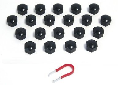 BLACK LUG BOLT NUT COVERS FOR BMW MODELS - ALL MODELS