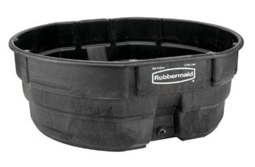 Rubbermaid Stock Tank 300 Gal Poly Black ()