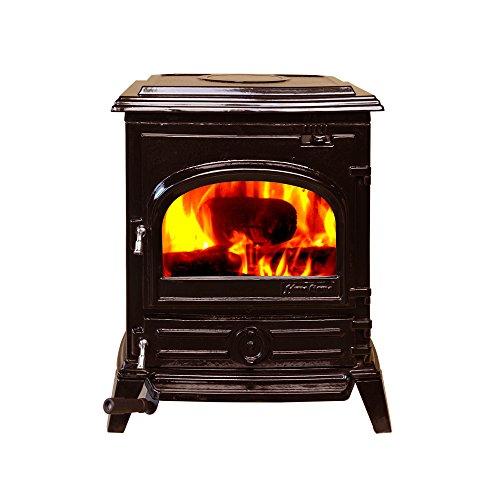 HiFlame EPA approved cast iron wood burning stove HF517U Enamel (Wood Burning Stove Cast Iron)