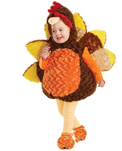 Little Turkey Baby Costume (Underwraps Belly Baby Turkey Costume - X-Large (4-6 Months))
