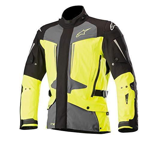 (Yaguara Drystar Waterproof Textile Motorcycle Jacket for Tech-Air Street Airbag System (L, Black Dark Gray Yellow Fluo))