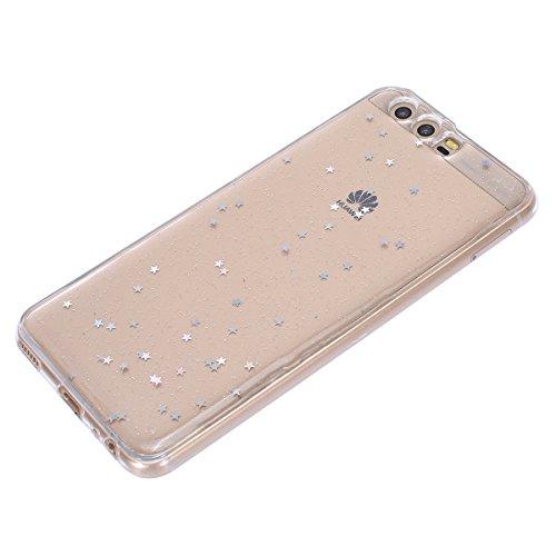 Ultra Paillette Glitter pour Fine pour Liquid Ultra Silicone Coque Motif en Coque Bling Housse TPU Huawei Crystal tui Silicone Huawei Huawei P10 P10 Coque Mince P10 Paillette toiles Bling toiles Ukayfe G Ta16WnRR
