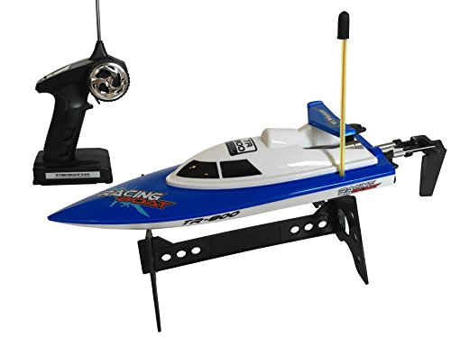 Top Race¨ Remote Control Water Speed Boat, Perfect Toy for Pools and Lakes TR-800 (Colors Vary)