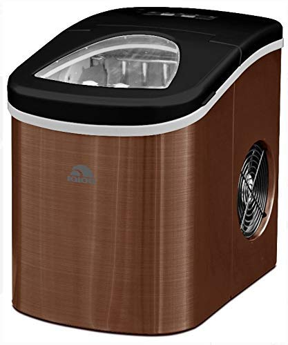 Igloo ICE117-SSCOPPER Compact Ice Maker- Makes 26 lbs. of ice - Copper Stainless Steel (Certified Refurbished)