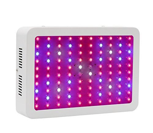 SCOPOW LED Grow Plant Light 300W Full Spectrum 9 Band Lamp for Greenhouse and Indoor Plant Flowering Growing