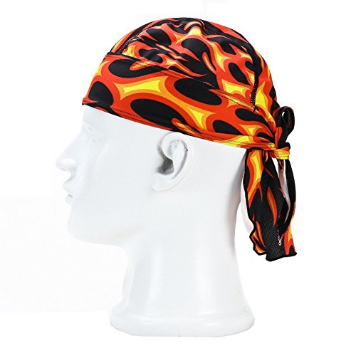 Wicking Beanie Adjustable Cycling Bandana - Skull Cap Beanie For Outdoor Running - Double Dry Dew Doo Rag Head Wrap Headband Sweatband
