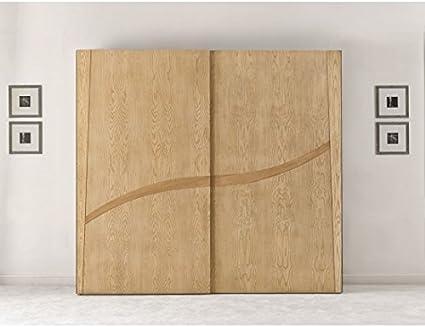 Estense – Armario puertas correderas de madera maciza color natural como fotos – Arma: Amazon.es: Hogar