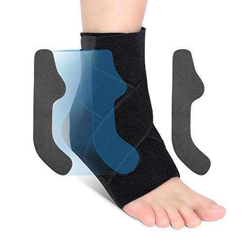 Ankle Support Brace, Ankle Brace Wrap with Dual PE Boards and Elastic Straps, Adjustable Ankle Brace Sleeve for Sprains Fatigue Artistic Pain Relief and Injury Recovery, 1 Piece