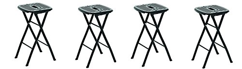 MityLite 1FFS002P Flex One Folding Stool, 24'', Black (Pack of 2) (4-(Pack of 2))