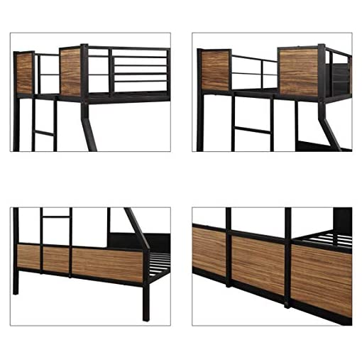 Bedroom Aooppec Stronger & More Durable Metal Bunk Bed, Modern Style Thicken Steel Frame Bunk Bed with Ladder & Safety Rails for… bunk beds