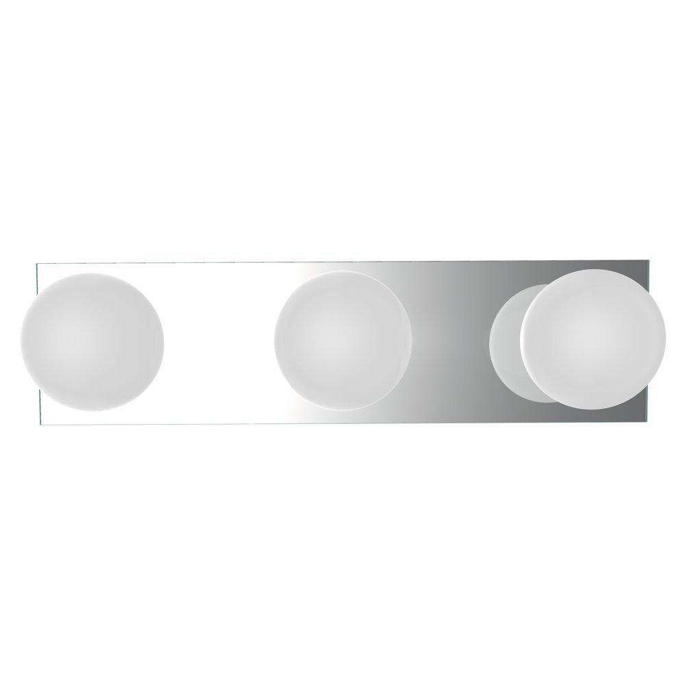 Heitronic Applique murale/plafonnier Star 3, 3ampoules, 3x G928W blanche ampoule halogène inclus Hei de 27487 [Classe énergétique C] HEI-27487