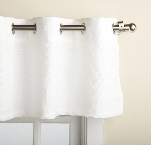Lorraine Home Fashions Jackson 58-inch x 12-inch Valance, White (White Window Valance)