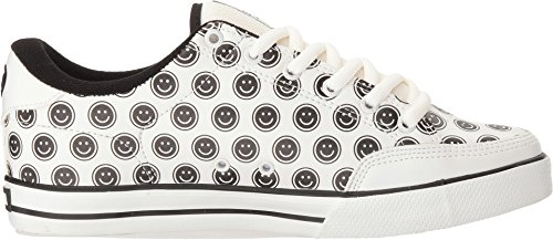 C1RCA, Lopez 50, scarpe da ginnastica basse,unisex, da adulto, Bianco (White/Smiley), 39,5 EU