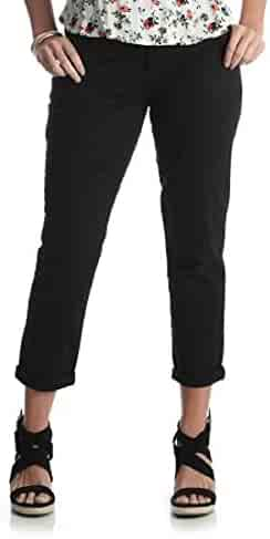 b62ba32093d3e LEE Riders by Womens Slim Cropped Chino Pant New Size 16M Casual Black