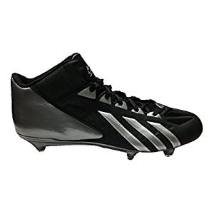 adidas Filthyquick Mid D Football Cleats (12, Black/Platinum/Titanium)