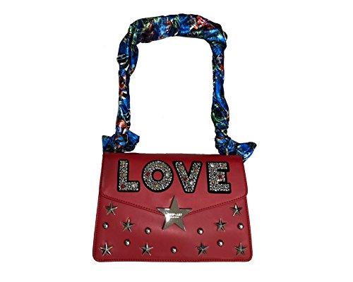 borsa rossa LOVE shop art Rosso